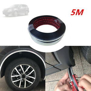 5M*28MM Rubber Car SUV Wheel Rubber Eyebrow Protector Lip Arch Trim Fender Strip