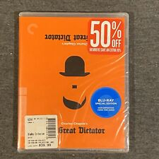 The Great Dictator (Blu Ray, 2011, Criterion Collection) #565 New/Sealed