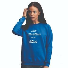 Christmas sweater jumper  Christmas as a MISS Gift Ladies