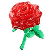 3D Crystal Puzzle Cube Block Jigsaw Model DIY Rose IQ Toy Furnish Gift Gadg P6M8