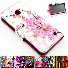 Fold PU Leather Skin Stand Wallet Card Slot Phone Cover Case For Nokia Lumia 630