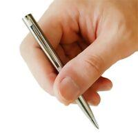 5Pcs Mini Metal Ballpoint Pen Rotating Pocket-Size Portable Pen Small Oil Pen