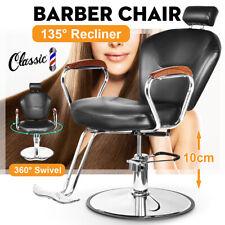 135° Reclining Barber Chair Heavy Duty Shave Salon Beauty Tattoo Equipment