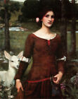 Fine Art Poster Print on Canvas John William Waterhouse The Lady Clare Small