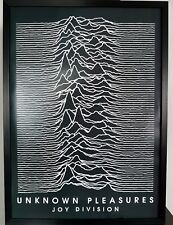 More details for joy division-unknown pleasures-luxury framed poster certificate-ian curtis