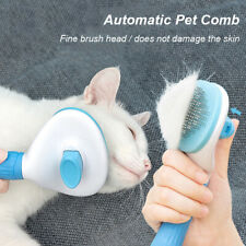 Pet Comb Brush Removal Comb Grooming Cats Hair Remove Selfcleaning Flea Comb