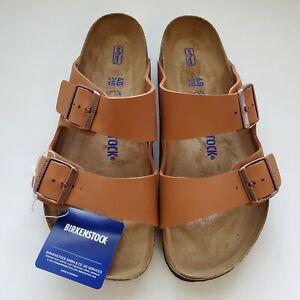 Birkenstock Arizona Ginger Brown Soft Footbed Sandals 39 40 R