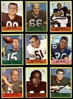 1967 Philadelphia Football Cards - Complete Your Set ** YOU PICK ** HOF GREAT