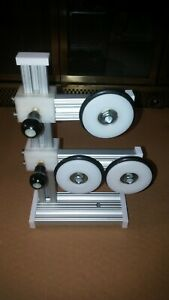 SET OF 3 ROD BUILDING BALL BEARING SUPPORTS WRAPPING ALUM HEAVY DUTY VERY NICE!