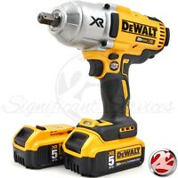 "DeWALT DCF899 20V XR Brushless 1/2"" Detent Impact Wrench 2 5.0 Ah DCB205 Battery"