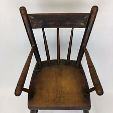 Antique American High Chair Beautifully Decorated Great Patina Photography Prop