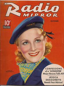RADIO MIRROR • OCT 1935• JESSICA DRAGONETTE • TCHETCHET cover