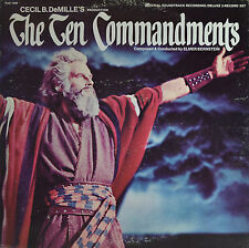 "THE TEN COMMANDMENTS - ELMER BERNSTEIN  12"" 2 LP  (Q452)"