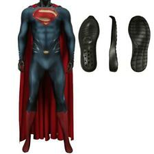 Costume Superman Cosplay Man of Steel professionale completo adulti suole gomma