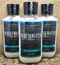 3 BATH AND BODY WORKS*WHITEWATER RUSH*LOTION FOR MEN CREAM*Free Priority Ship!