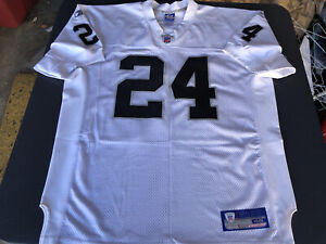 💯% Authentic Reebok Pro Cut OAKLAND RAIDERS  CHARLES WOODSON JERSEY SIZE 48 New