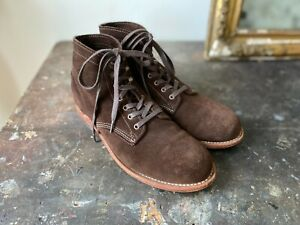 WOLVERINE 1000 MILE BROWN SUEDE BOOTS. EXCELLENT CONDITION. BOXED. SIZE UK 9.5.