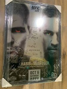 'Rare' Framed UFC 229 poster signed by whole card
