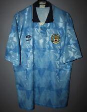 MANCHESTER CITY ENGLAND 1988/1989/1990 HOME FOOTBALL SHIRT JERSEY UMBRO