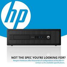 HP ProDesk 600 G1 SFF Desktop PC, Win 8 Pro, 4th Gen i5 Quad Core 8GB RAM SSD