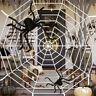 3.6M Toile d'araignée 200cm Géant Spider Halloween Décorations Jardin Intérieur