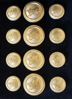 Blazer Jacket button set circular gold plated Knights Templar Masonic