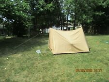 Vintage Eureka Sail Craft Canvas Pup  Tent in  Boy Scout  Good Condition
