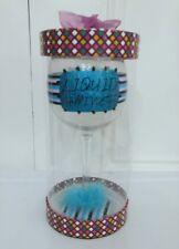 Minx Let it Pour Liquid Happiness 13 Oz. Collectors Wine Glass Gift New
