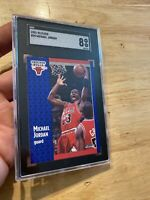 Michael Jordan SGC 8 Fleer 1991 #29 Card Collector Chicago FIGHT INFLATION NR