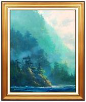 James Coleman Oil Painting On Canvas Signed Original Seascape Modern Framed Art