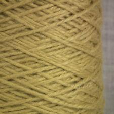 100% PURO CASHMERE Filato Aran Peso CONO 100g macchina a mano in maglia di Lusso Oro Pallido