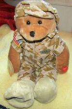 "1984 Chantilly Lane Musicals Stuffed Bear 22"" American GI HERO/God Bless America"