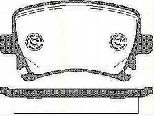 Plaquettes Frein AR TRISCAN SEAT TOLEDO III (5P2) 1.6 102 CH