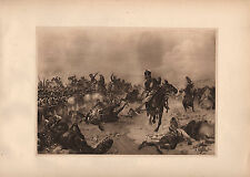 ANTIQUE MILITARY PRINT BATTLE OF FUENTES D'ONORO (1811) ARMS HORSE PISTOL SWORD