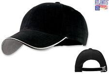 ATLANTIS cappello baseball PILOT nero PIPING bianco  cappellino JUVENTUS caps