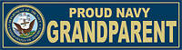 US NAVY Proud Grandparent Decal Bumper Sticker USN