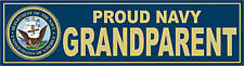 US NAVY Proud Grandparent Decal Bumper Sticker USN