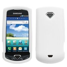 White Rubber Silicone Skin Case for Samsung GEM i100