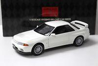1:18 Kyosho Nissan Skyline GT-R R32 V-SPEC II white NEW bei PREMIUM-MODELCARS