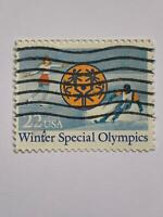 VINTAGE STAMP💎1985💎22 cent Winter special olympics #2142💎