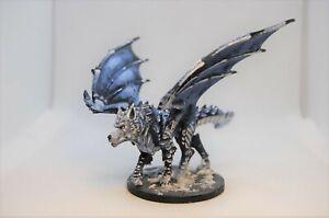 Hand Painted Reaper Bones V Kickstarter Exclusive Dragon Wolf Miniature