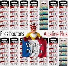 Piles/Battery boutons Alcaline 1,5V AG0 LR63 LR521 379 2 10 20 50 AG3 AG10 AG13