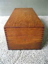 Antique File Box GLOBE WERNICKE Vintage Desk Office Kitchen, Tiger Oak Wood