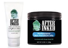 After Inked Tattoo AfterCare Lotion + Non Petroleum Jelly Tattoos Piercing VEGAN
