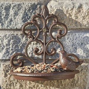Hanging Cast Iron Bird Feeder Vintage Bath Wall Mounted Outdoor Garden Decor