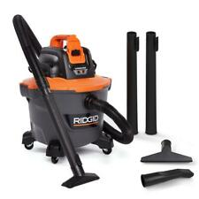 RIDGID 18-Volt 9 Gal. Cordless Wet/Dry Shop Vacuum (Tool Only) with Car Nozzle