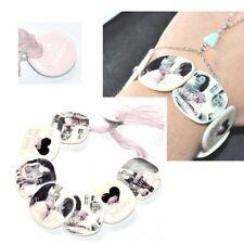 ZOE BONBON Bracelet original en nacre imprimée taille réglable bijou