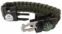 New Paracord mulitool Bracelet Tactical Survival Gear with SOS LED
