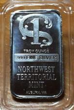 NORTHWEST TERRITORIAL MINT (NWTM) USA 1 OZ FINE SILVER MINTED BAR..UNC..SEALED.