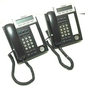 (Lot of 2) PANASONIC KX-DT333B Panasonic digital proprietary telephone 24 button